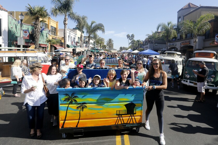 Main Street in Huntington Beach, pictured during an art show in 2017.