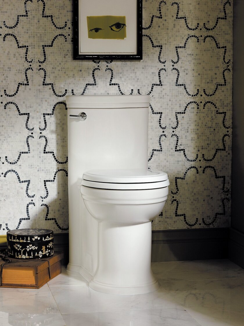 This high-efficiency toilet by American Standard can save your household 20 percent or more on water usage.