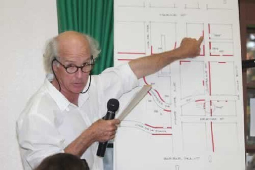 Local architect Matthew Welsh represented Barber Tract homeowner Ron McLeod in his quest to paint a curb opposite his driveway red, which McLeod said will prevent him from being blocked in his driveway. Pat Sherman