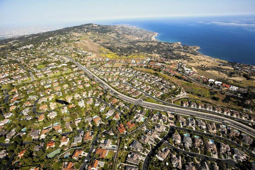 Sales of homes costing $800,000 or more grew 12% from March 2013. But sales of homes costing less than $500,000 fell at twice that rate. Above, Palos Verdes.