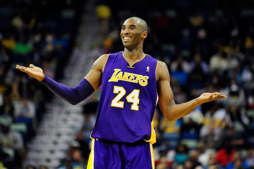 Kobe Bryant joked after their fourth straight loss that he wished the Lakers could play the Washington Generals.