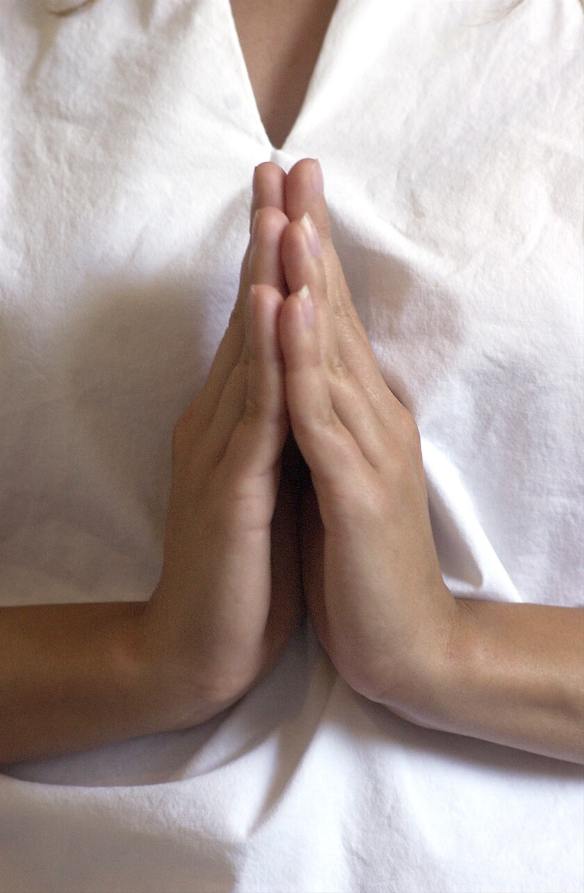 Short daily bouts of meditation may help stressed caregivers, a study finds.