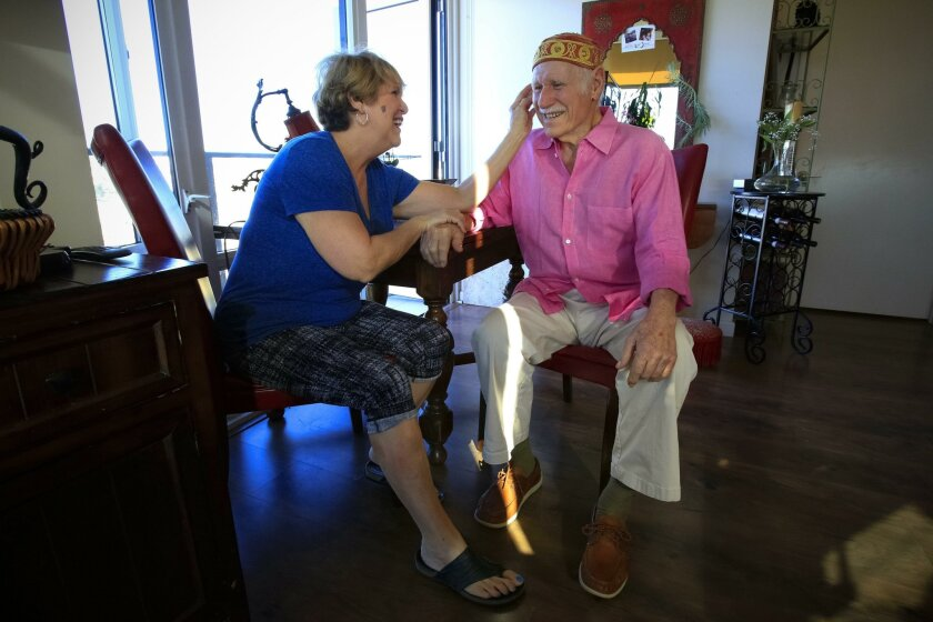 Anne O'Dell and her husband, Jim Hyslop, will celebrate Valentine's Day with meals and gifts provided by local businesses and food lovers after Anne wrote a post on Facebook about their plans for a night out despite Jim's Alzheimer's.