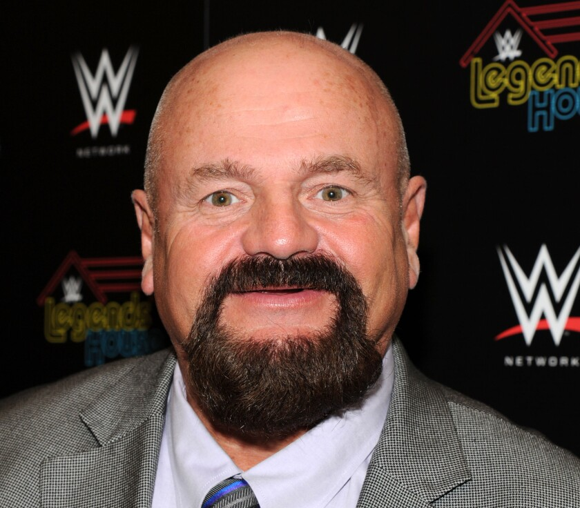 """Howard Finkel attends the WWE screening of """"Legends' House"""" at Smith & Wollensky on April 15, 2014 in New York City."""