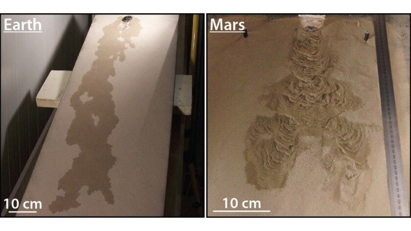 Boiling water may have shaped Martian slopes, study finds