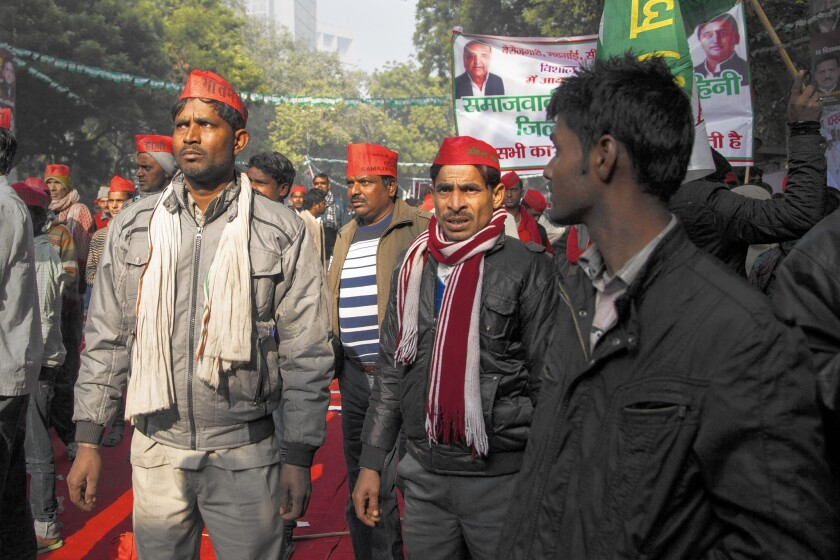 Protesters voice their disapproval of ceremonies across India to convert Christians and Muslims to Hinduism.