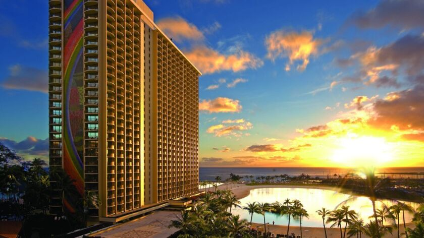 Travelers save with a fifth-night-free offer from the Hilton Hawaiian Village Waikiki Beach Resort in Honolulu and 10 other hotels.