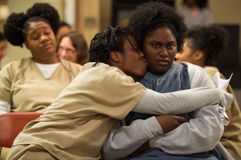 "Uzo Aduba and Danielle Brooks in Season 3 of Netflix's ""Orange is the New Black."""
