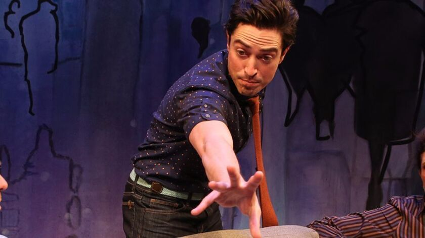 "Ben Feldman plays Ethan, a man determined to win back his ex, in ""The Siegel"" at South Coast Repertory."