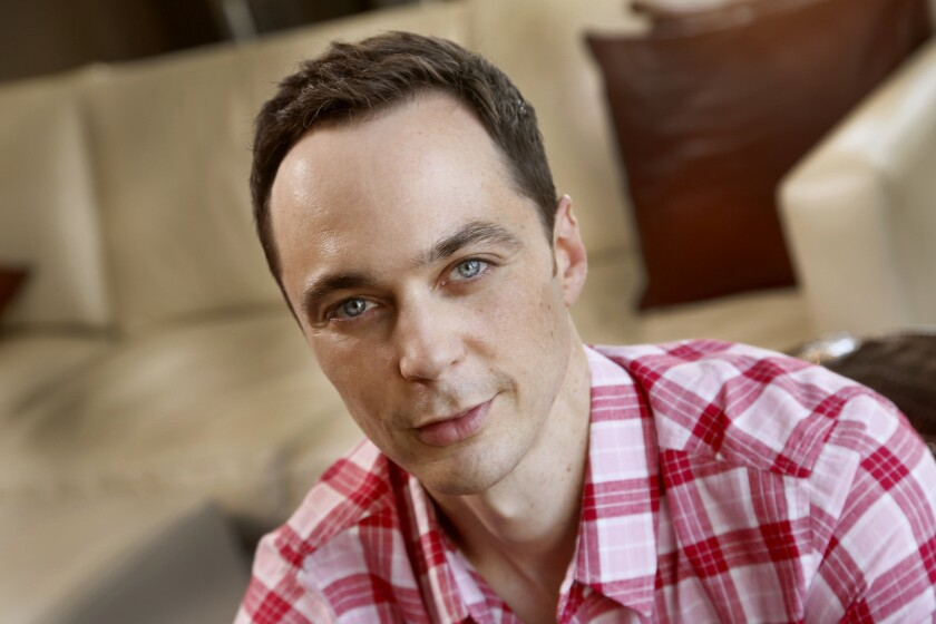 """Jim Parsons is up for two Emmy nominations: one for his role on the sitcom """"The Big Bang Theory"""" and one for his role in the HBO movie """"The Normal Heart."""""""