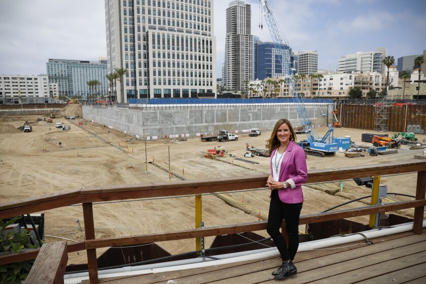 That giant hole in the ground in downtown San Diego. She's digging it.