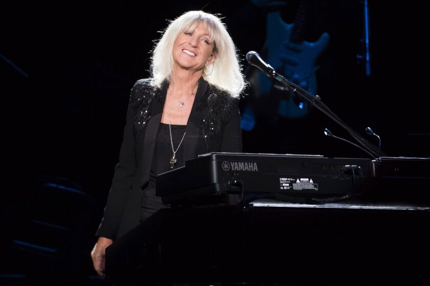 Christine McVie from the band Fleetwood Mac performs at Madison Square Garden on Monday, Oct. 6, 2014, in New York. (Photo by Charles Sykes/Invision/AP)
