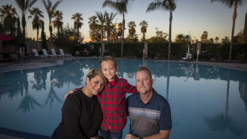 ANAHEIM, CALIF. -- THURSDAY, DECEMBER 13, 2018: Keith Johnson, shown with his wife, Sandra Martinez-