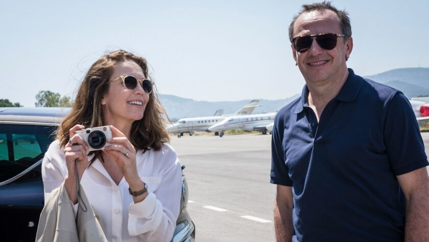 """Diane Lane as Anne Lockwood and Arnaud Viard as Jacques Clement in the film """"Paris Can Wait."""""""