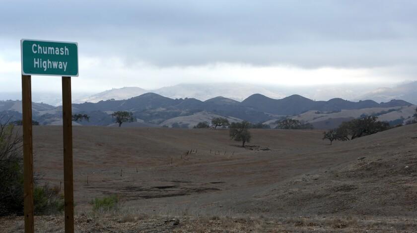SANTA YNEZ, CA-NOVEMBER 21, 2013: A sign indicates that Highway 154 in Santa Ynez has been renamed