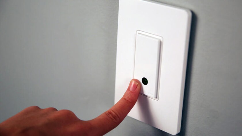 Belkin's products include a light switch that can be controlled with a smartphone.