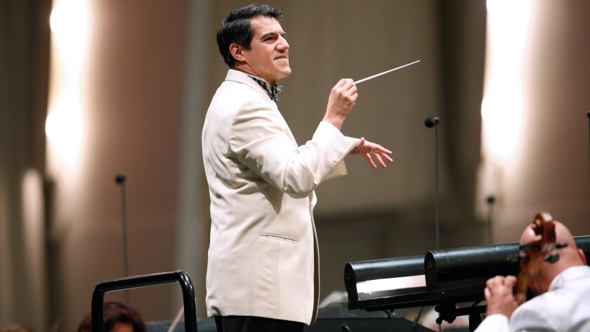 Miguel Harth-Bedoya conducts the Los Angeles Philharmonic at the Hollywood Bowl.