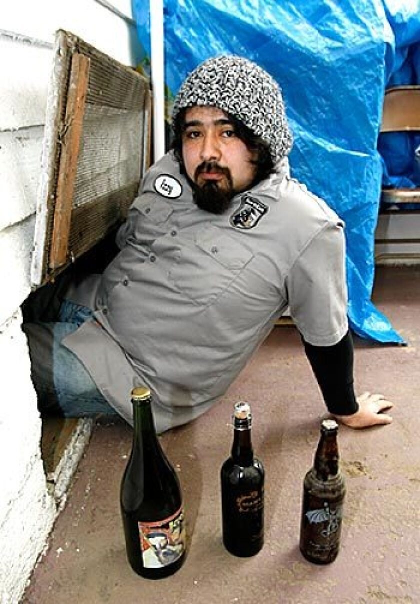 Israel Arrieta stores beer long-term under a house.