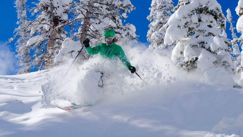 Skier at Steamboat Springs, Colo.