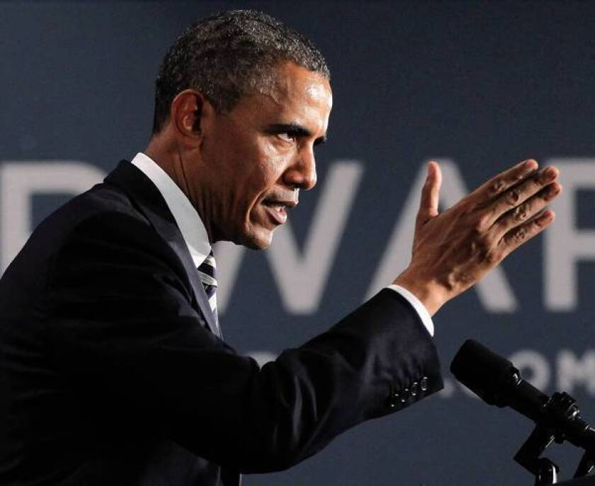 President Obama speaks Monday at a fundraiser in Stamford, Conn. He has refined his message to reach narrow groups of voters, such as young or suburban women.