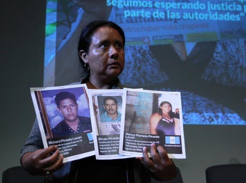 En la imagen, Glenda García, de la Asociación de Familiares de Migrantes Desaparecidos de Guatemala. EFE/Archivo