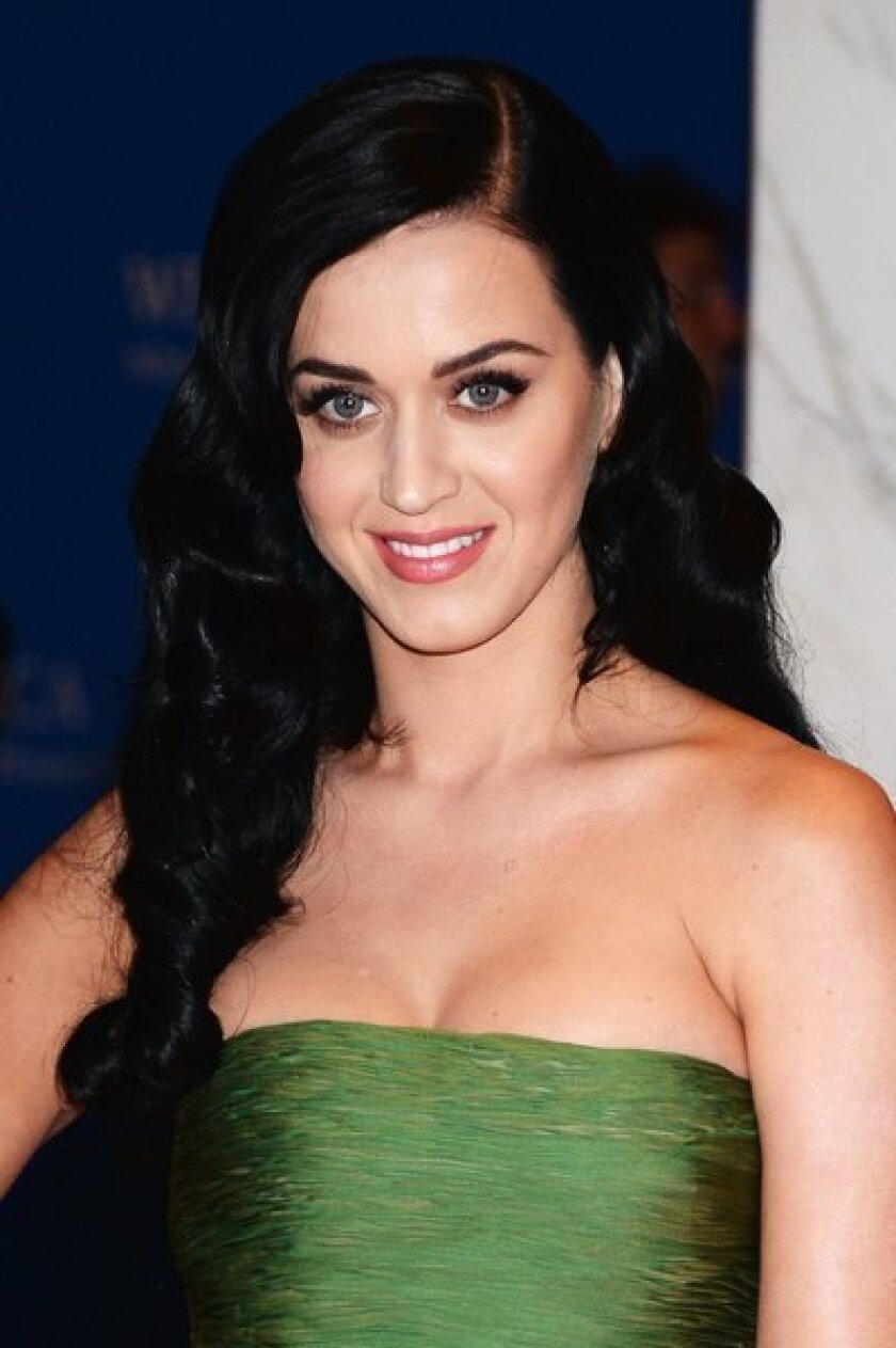 Singer Katy Perry attends the White House Correspondents' Association Dinner.