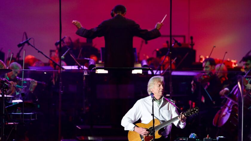 The Moody Blues were accompanied by the Hollywood Bowl Orchestra under the direction of Thomas Wilki