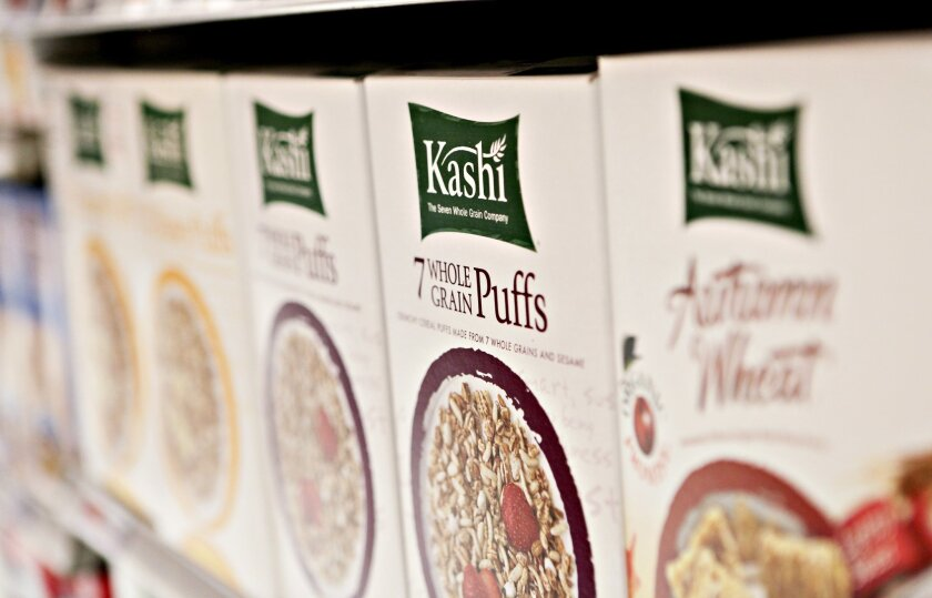 File photo: Kellogg Co. Kashi brand cereal sits on display in a supermarket in New York, U.S., on Thursday, Feb. 5, 2009.