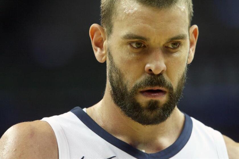 En la imagen, el jugador espñaol Marc Gasol de Memphis Grizzlies. EFE/Archivo