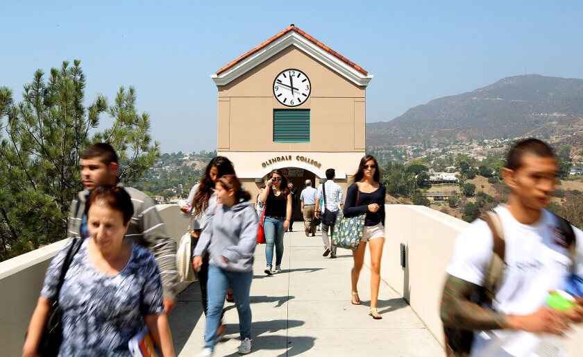 Students at Glendale Community College are among those who may benefit from new transfer aid.