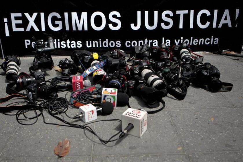 La Fiscalía de Justicia del estado mexicano de Tamaulipas anunció hoy la captura de uno de los presuntos asesinos del periodista Héctor González Antonio y confirmó el robo como principal teoría del caso sucedido el pasado 29 de mayo. EFE/ARCHIVO