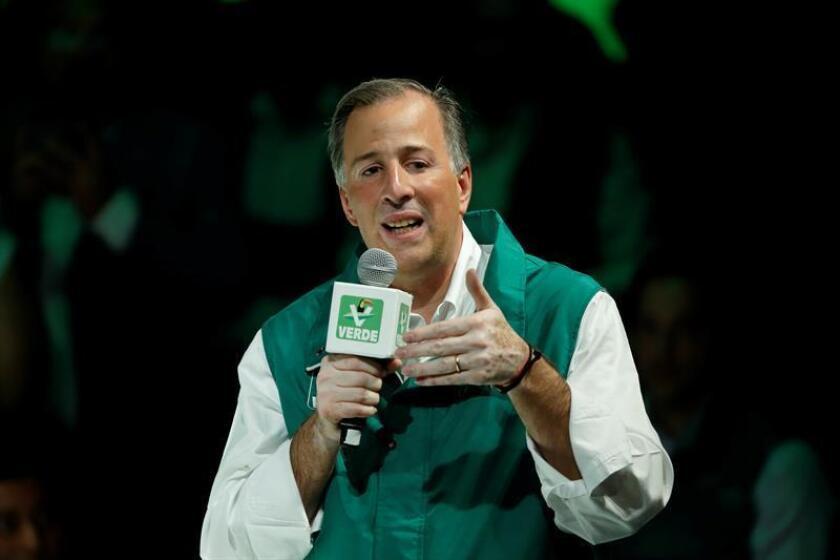 """José Antonio Meade asume como candidato a la presidencia por la coalición """"Todos por México"""", conformada por el Partido Revolucionario Institucional( PRI), Partido Verde Ecologista(PVEM) y Partido Nueva Alianza( PANAL), hoy, martes 20 de febrero de 2018, durante un acto celebrado en Ciudad de México (México). EFE"""