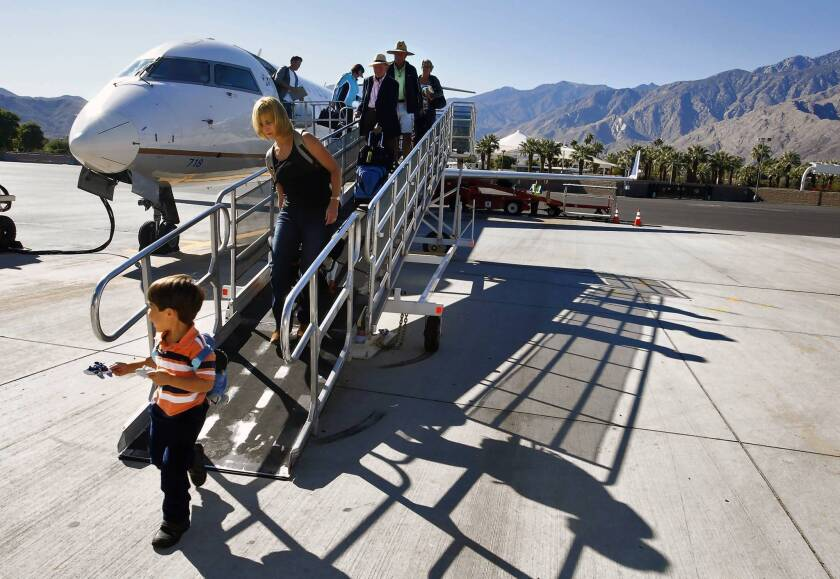 Travelers say Palm Springs' airport has its own place in the sun