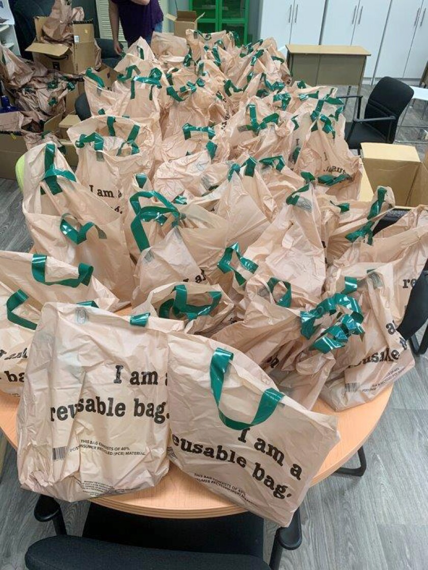 Ramona Food & Clothes Closet will distribute lunch bags to children at the Ramona Post Office Aug. 13-15.