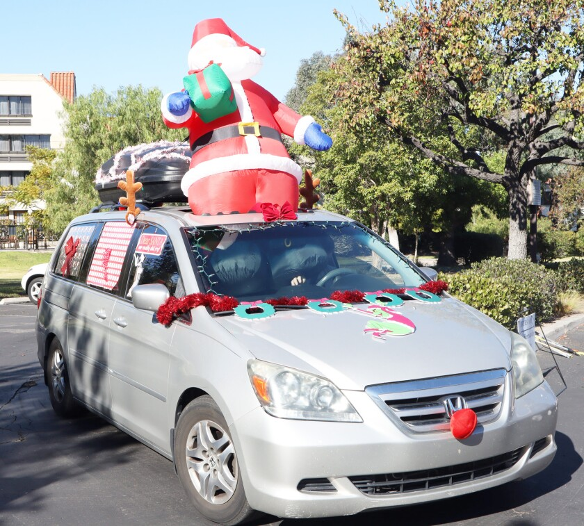 The Mansfield family won the vehicle decorating contest.