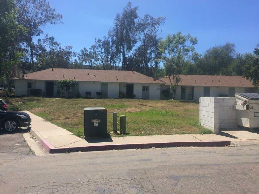 San Diego planners have received a proposal to demolish the Penasquitos Village apartment complex and turn it into 99 large single-family homes, 105 triplex homes, 120 townhomes and 240 apartments.