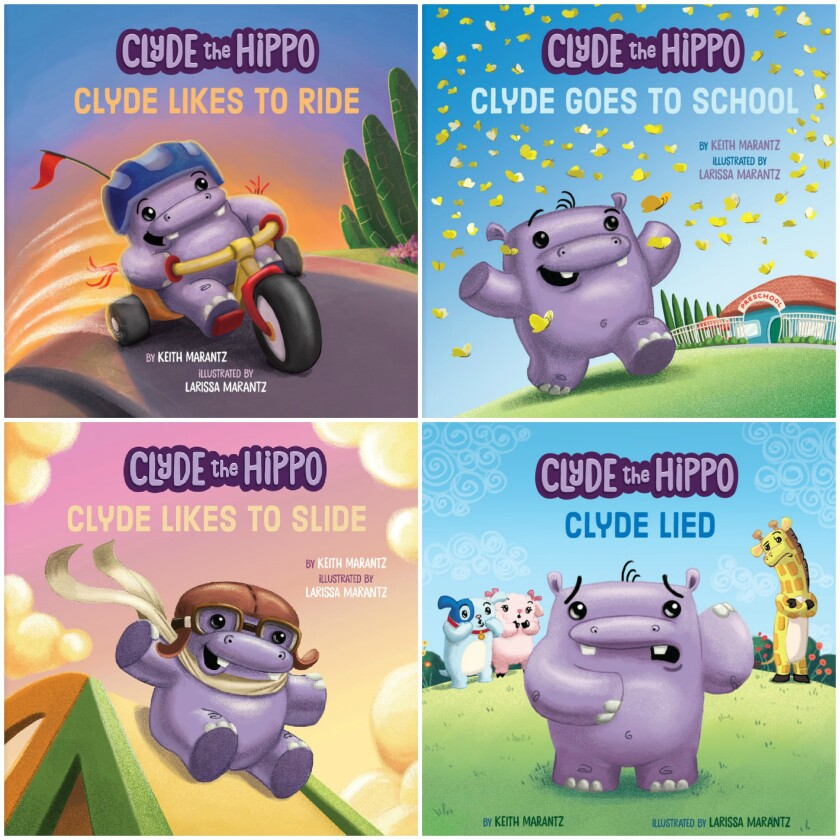 """The """"Clyde the Hippo"""" series of four picture books, published in 2020."""