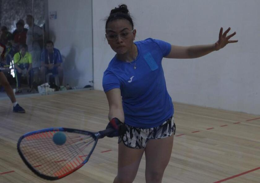 En la imagen un registro de la raquetbolista guatemalteca Ana Gabriela Martínez. EFE/Luis Noriega/Archivo