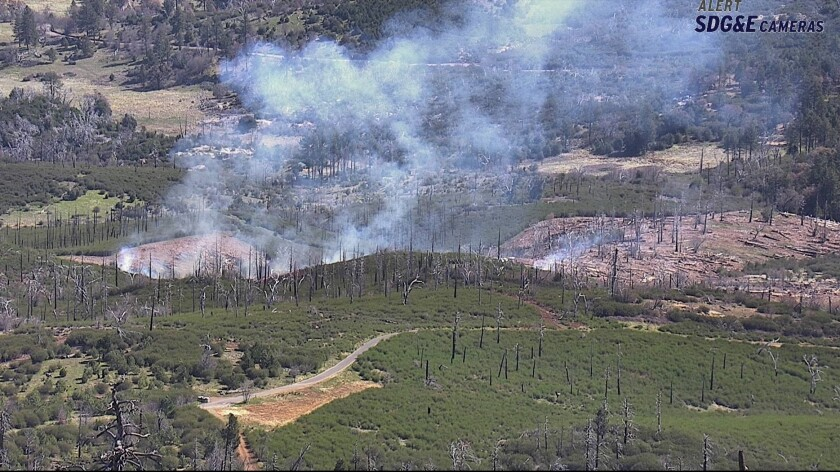 A fire was intentionally set in Cuyamaca Rancho State Park in East County on Monday.