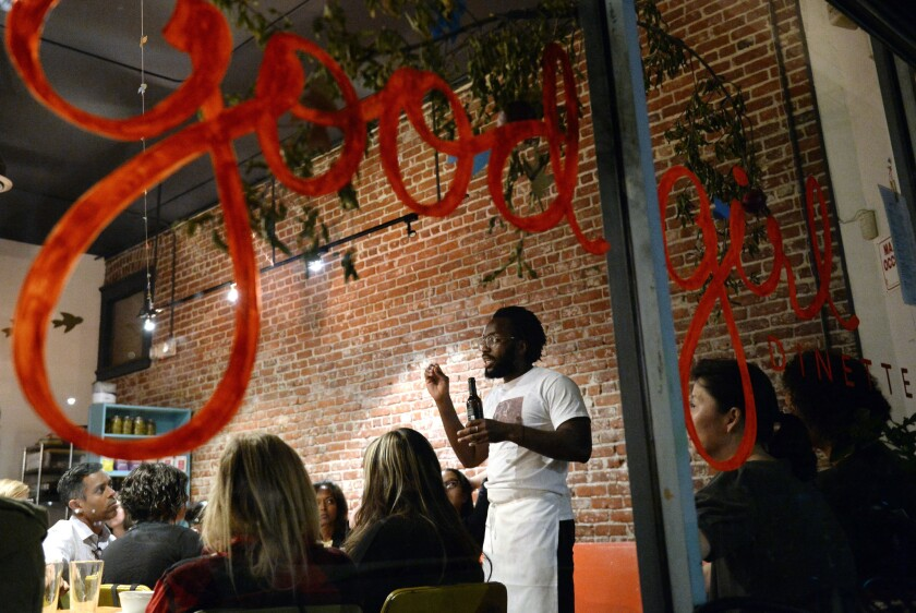 Chef Tunde Wey holds a pop-up dinner at Good Girl Dinette in Highland Park.