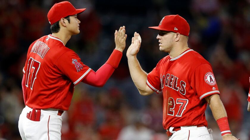 Column: Busting some myths: No need to trade Mike Trout for now; Shohei Ohtani is the rookie of the year