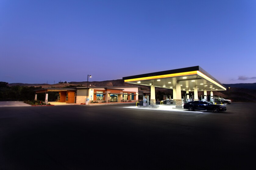 The new Sycuan Square gas station and convenience store.