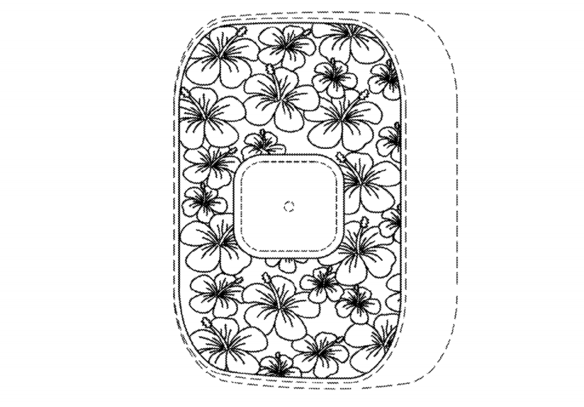 A sketch of the cover Kay designed, as shown in the patent she received.
