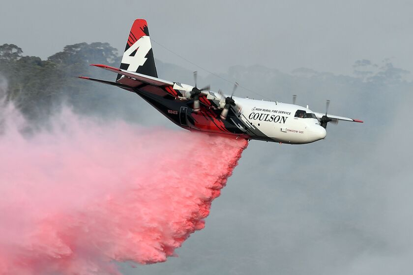 Three Americans died when a C-130 Hercules water-bombing plane crashed