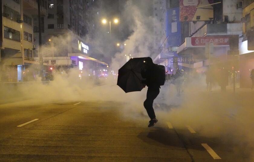 Hong Kong New Year Protests