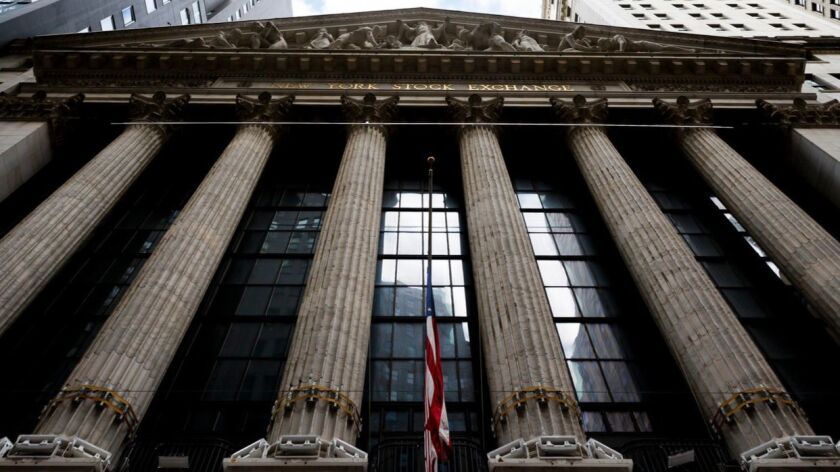 A view of the New York Stock Exchange.