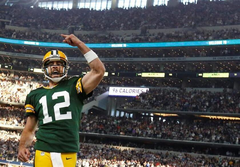 El quarterback de los Green Bay Packers Aaron Rodgers. EFE/Archivo