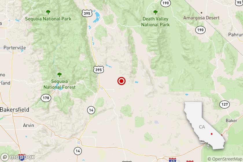 Earthquake: 3.7 quake strikes near Ridgecrest, Calif.