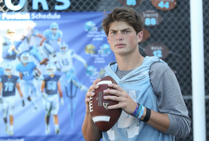 Ethan Garbers of Corona del Mar showed patience during his four years playing quarterback and emerged his senior year as one of the best in Southern California. He's headed to Washington.