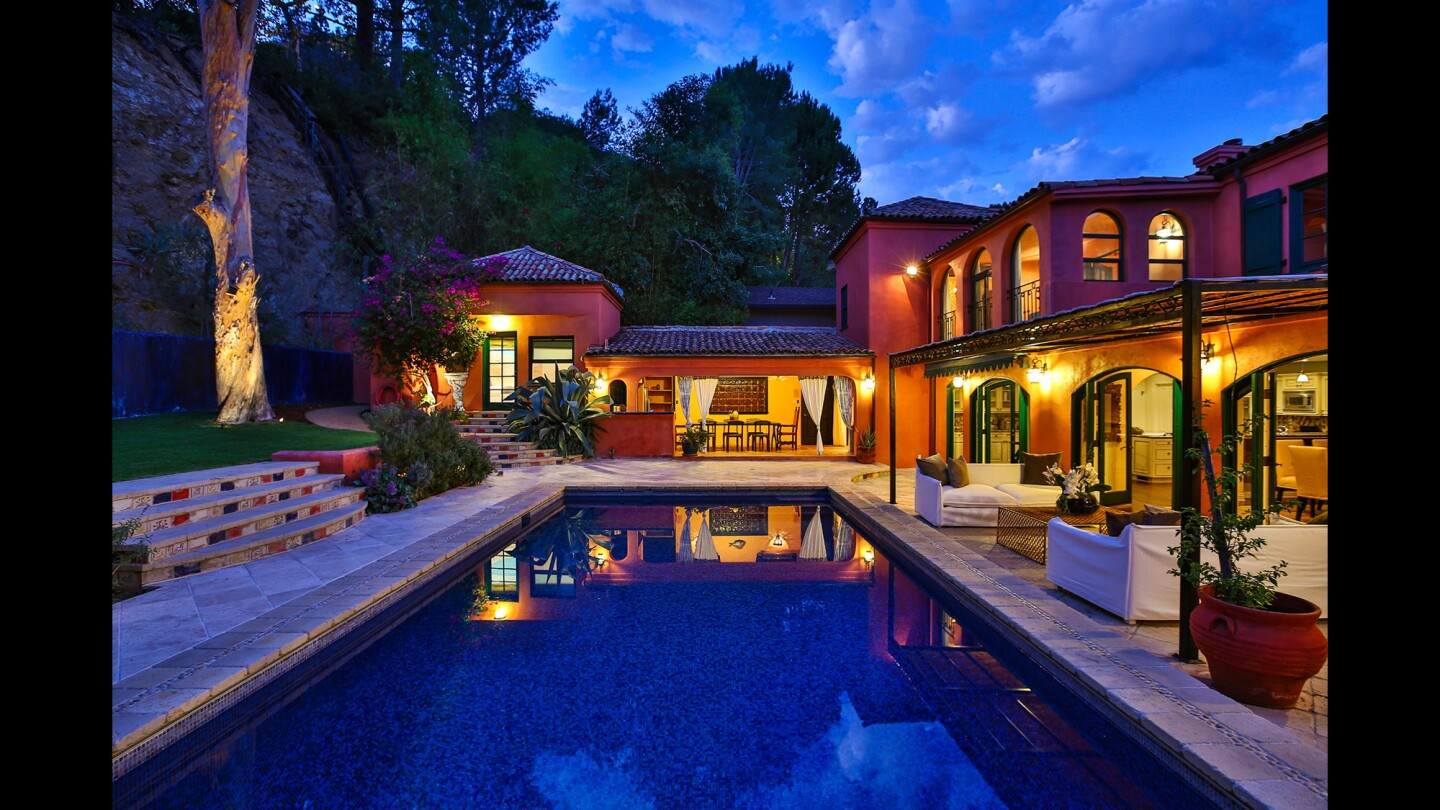 The 1930s Mediterranean hideaway in Hollywood Hills harks to the gracious living of an earlier era.